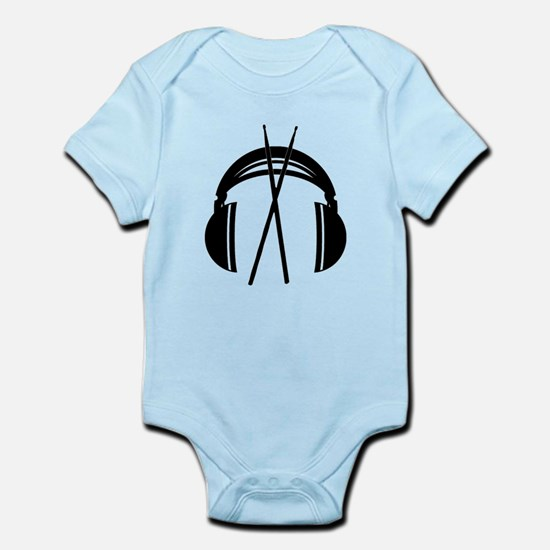 Cut And Dry Logo Black Infant Bodysuit