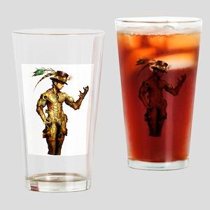 Steampunk Cyborg Drinking Glass