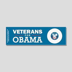 Veterans for Obama Car Magnet 10 x 3