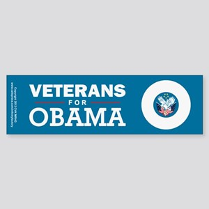 Veterans for Obama Sticker (Bumper)