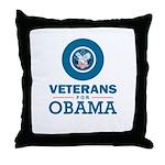 Veterans for Obama Throw Pillow