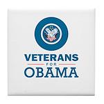 Veterans for Obama Tile Coaster