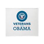 Veterans for Obama Throw Blanket