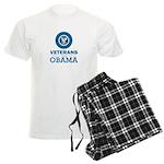 Veterans for Obama Men's Light Pajamas