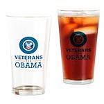 Veterans for Obama Drinking Glass