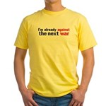 Against The Next War Yellow T-Shirt