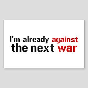 Against The Next War Sticker (Rectangle)