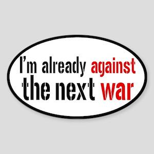 Against The Next War Sticker (Oval)