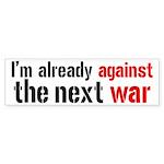 Against The Next War Sticker (Bumper)