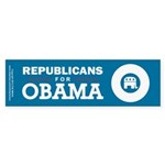 Republicans for Obama Sticker (Bumper)