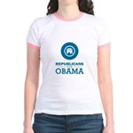 Republicans for Obama Jr. Ringer T-Shirt