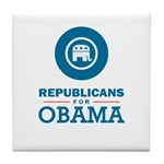 Republicans for Obama Tile Coaster