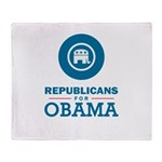Republicans for Obama Throw Blanket