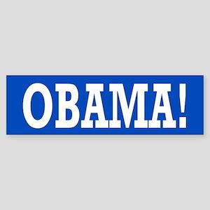 Obama Exclamation Sticker (Bumper)