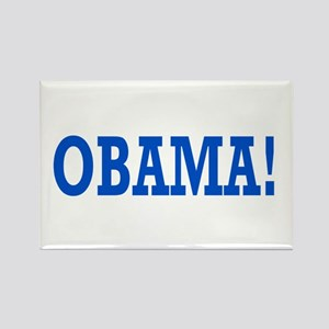 Obama Exclamation Rectangle Magnet