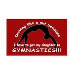 Gymnastics Rectangle Car Magnet