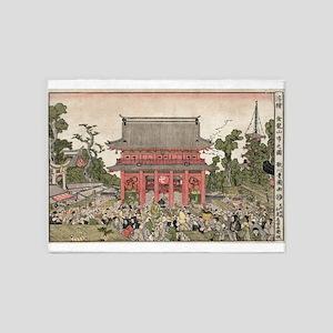 The market at Kinryuzan Temple - Toyokuni Utagawa