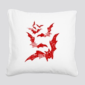 Vintage, Bats Square Canvas Pillow