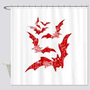 Vintage, Bats Shower Curtain