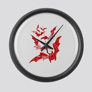Vintage, Bats Large Wall Clock