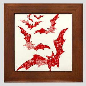 Vintage, Bats Framed Tile
