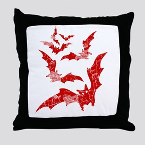 Vintage, Bats Throw Pillow