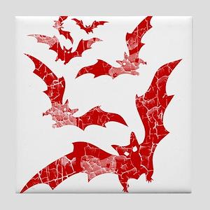 Vintage, Bats Tile Coaster