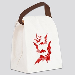 Vintage, Bats Canvas Lunch Bag