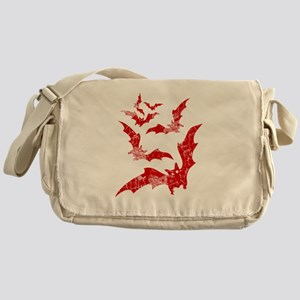 Vintage, Bats Messenger Bag