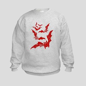 Vintage, Bats Kids Sweatshirt