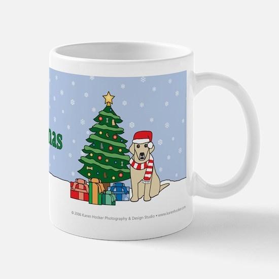 Yellow Labrador Merry Christmas Mug