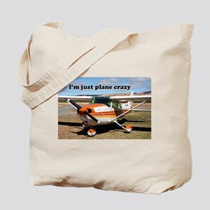 I'm just plane crazy: high wing Tote Bag