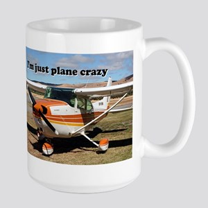 I'm just plane crazy: high wing Large Mug