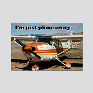 I'm just plane crazy: high wing Rectangle Magnet