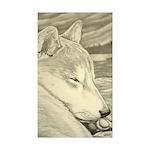 Shiba Inu Dog Art Sticke Sticker (Rectangle 10 pk)