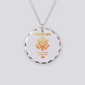 PASSPORT(USA) Necklace Circle Charm
