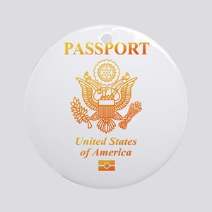 PASSPORT(USA) Ornament (Round)