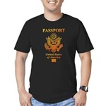 PASSPORT(USA) Men's Fitted T-Shirt (dark)