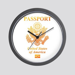PASSPORT(USA) Wall Clock