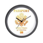 PASSPORT(USA) Wall Clock