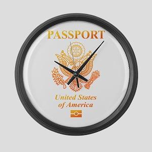 PASSPORT(USA) Large Wall Clock