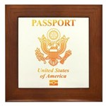 PASSPORT(USA) Framed Tile
