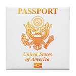 PASSPORT(USA) Tile Coaster