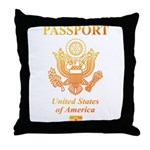 PASSPORT(USA) Throw Pillow