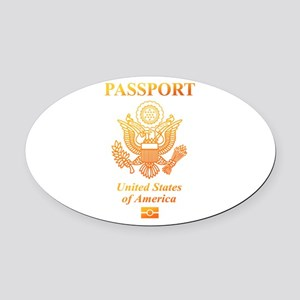 PASSPORT(USA) Oval Car Magnet