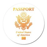 PASSPORT(USA) Round Car Magnet