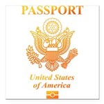 PASSPORT(USA) Square Car Magnet 3