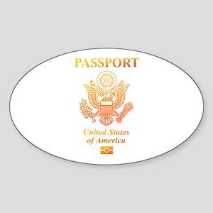 PASSPORT(USA) Sticker (Oval)