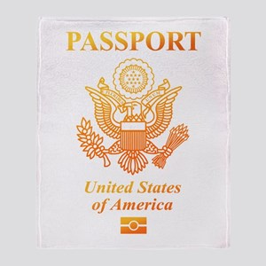PASSPORT(USA) Throw Blanket