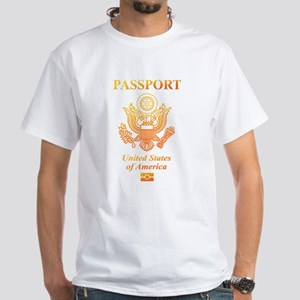 PASSPORT(USA) White T-Shirt
